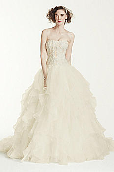 Petite Organza Ruffle Skirt Wedding Dress 7CWG568