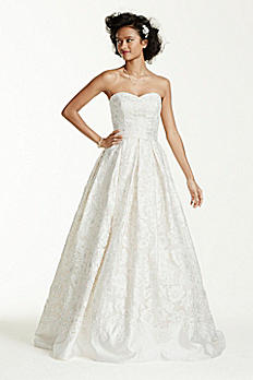 As-Is Laser Cut Organza Wedding Dress AI14010445