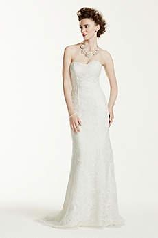 Long Sheath Wedding Dress - Oleg Cassini