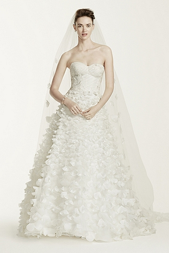 Sweetheart Lace Ball Gown with 3D Flowers CWG660