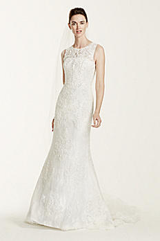 Petite Tank Wedding Dress with Illusion Back 7CWG667
