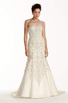 Oleg Cassini Tulle and Crystal Wedding Dress