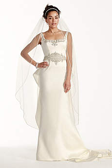 Long Mermaid/ Trumpet Vintage Wedding Dress - Oleg Cassini