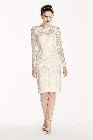 Short Sheath Vintage Wedding Dress Oleg Cini