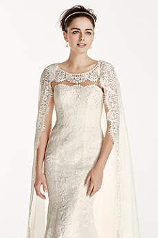 As-Is Oleg Cassini Boatneck Wedding Dress