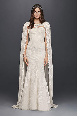 Long Sheath Vintage Wedding Dress