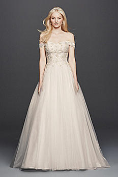 As-Is Off the Shoulder Swag Sleeved Wedding Dress AI14010497