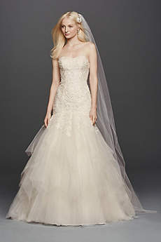 Long Formal Wedding Dress - Oleg Cassini