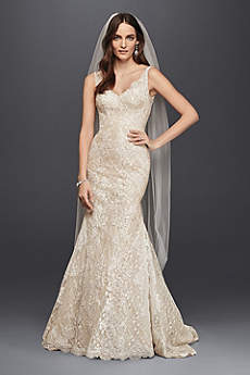 Long Romantic Wedding Dress - Oleg Cassini