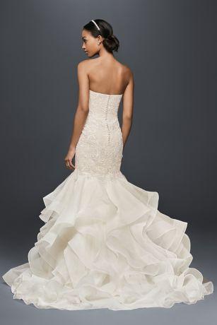Scroll Lace Trumpet Wedding Dress David S Bridal