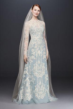 Blue color wedding dresses