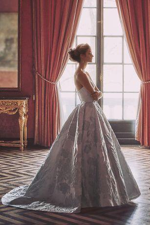 Floral Brocade Ball Gown Wedding Dress   David's Bridal