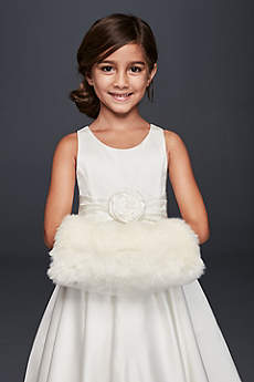 Flower Girl Faux Fur Muff