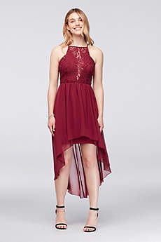 High Low A-Line Spaghetti Strap Guest of Wedding Dress - Speechless