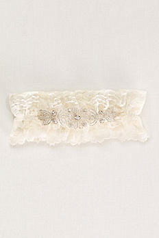 Crystal Beaded Lace Wedding Garter DB01295SG
