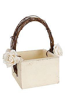 Darling Shabby Chic Flower Girl Basket DB1009