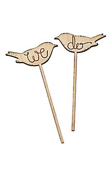 We Do Rustic Love Birds Cake Topper Set of 2 DB1015