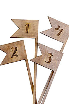 Rustic Chic Wood Table Number Flags DB1027