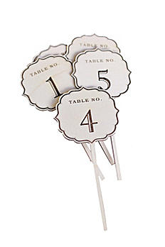 Vintage Chic Wood Table Numbers DB1029