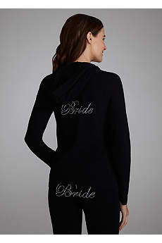 Bride's Rhinestone Hooded Jacket