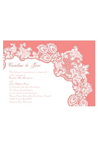 Lacy Delight Invitation Sample DB26132