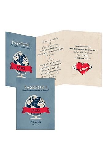 Passport to Love Invitation Sample DB28763