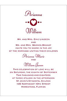 Petite Follow Your Heart Invitation Sample DB36608
