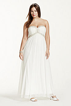 A-Line Beaded Bodice Gown DB3891W