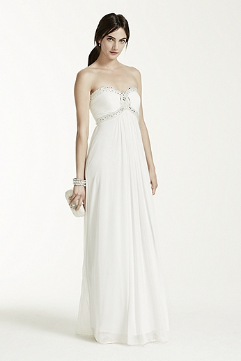 A Line Beaded Bodice Gown DB3891