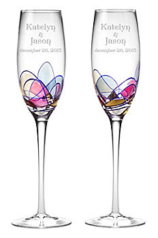 Personalized Helios Toasting Flutes DB4421HE1