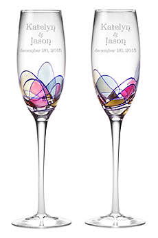 Personalized Helios Toasting Flutes