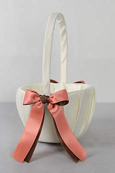 DB Exclusive Double Ribbon Flower Girl Basket