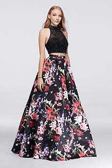 Long Ballgown Halter Prom Dress - Beyond by Jovani