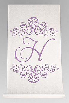 Personalized Watercolor Florish Aisle Runner DB71003