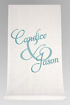 Personalized Watercolor First Names Aisle Runner