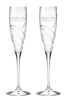 Personalized Lenox Adorn Signature Toasting Flutes