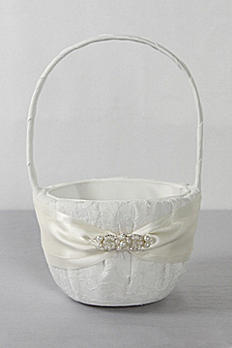 DB Exclusive Lace Elegance Flower Girl Basket DB83FGB