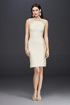 Short Sheath Beach Wedding Dress - Xscape