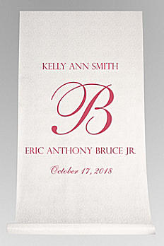 DB Exc Pers Elegant Names and Initial Aisle Runner DB91248