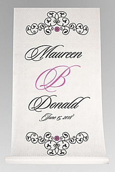 DB Exc Personalized Elegant Scroll Aisle Runner DB91254