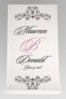 DB Exc Personalized Elegant Scroll Aisle Runner