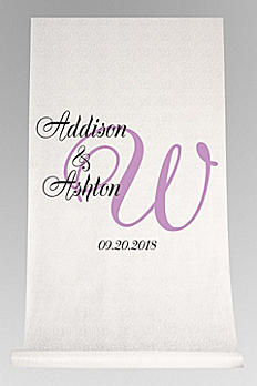 DB Exc Pers Elegant Names and Initial Aisle Runner DB91276