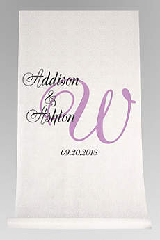 DB Exc Pers Elegant Names and Initial Aisle Runner