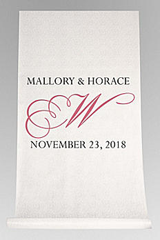 DB Exc Personalized Flourish Initial Aisle Runner DB91551