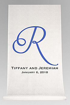 DB Exc Personalized Script Initial Aisle Runner DB91552