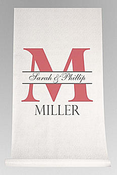 DB Exc Personalized Bold Initial Aisle Runner DB91554
