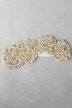 Ella Applique Garter With Gold and Ivory Details DB91682