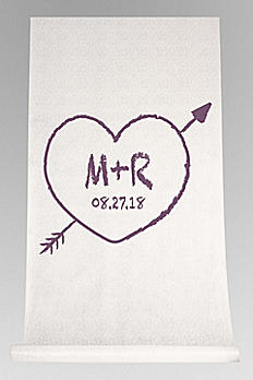 DB Exc Personalized Heart and Arrow Aisle Runner DB91706