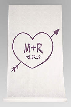 DB Exc Personalized Heart and Arrow Aisle Runner