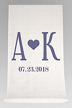 DB Exc Personalized Initials Heart Aisle Runner DB91707